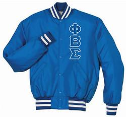 PBS Baseball Jacket Royal.White