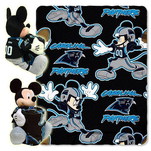 Carolina Panthers Mickey Mouse Throw Combo