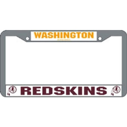 Washington Redskins Chrome License Plate Cover