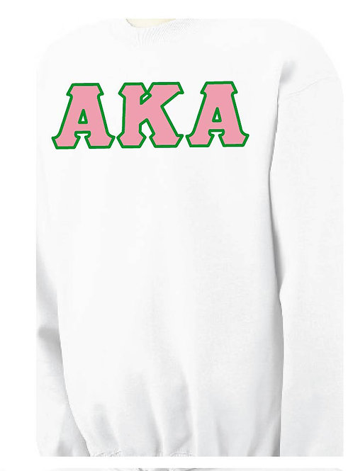 White AKA Fleece Crewneck Sweatshirt