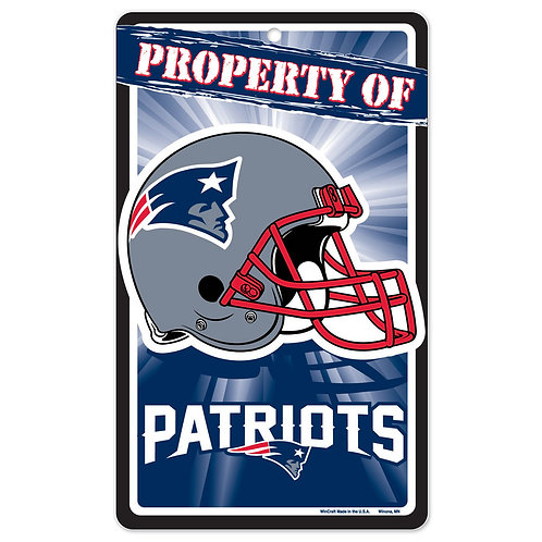 New England Patriots Property Of Signs