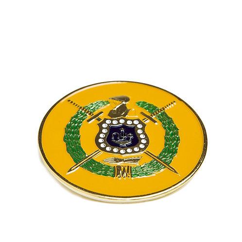 Omega Psi Phi Round Car Badge