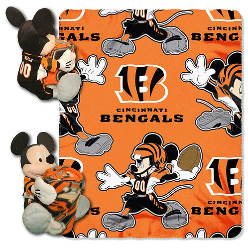 Cincinnati Bengals Mickey Mouse Throw Combo