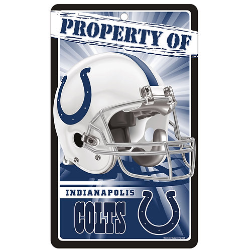 Indianapolis Colts Property Of Signs (7.25x12)