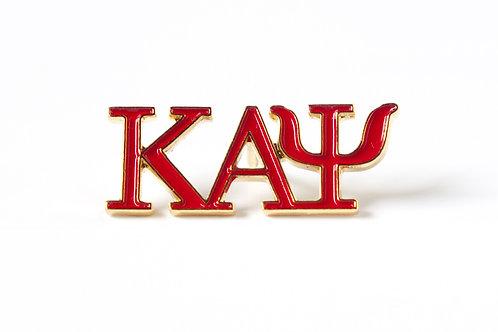 Kappa Alpha Psi 3 Letter Color Pin