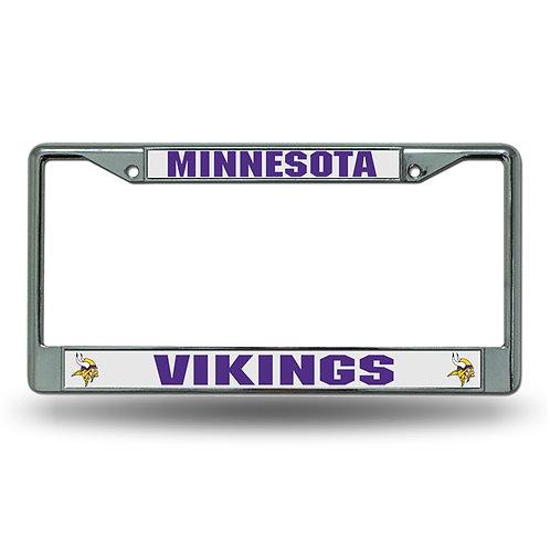 Minnesota Vikings Chrome License Plate Cover