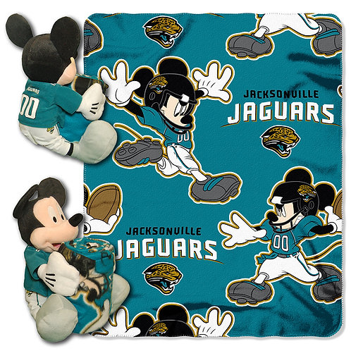 Jacksonville Jaguars Mickey Mouse Throw Combo