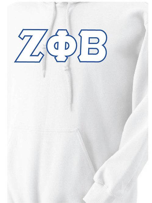 White Zeta Fleece Hoody