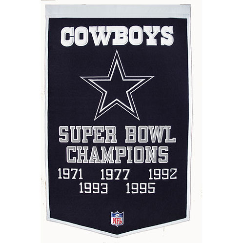 """Dallas Cowboys NFL """"Dynasty"""" Banner"""