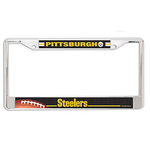 Pittsburgh Steelers NFL Chrome License Plate Frame