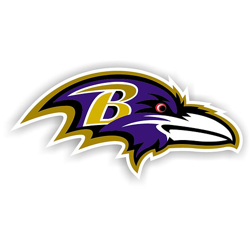 "Baltimore Ravens 12"" vinyl logo magnet"