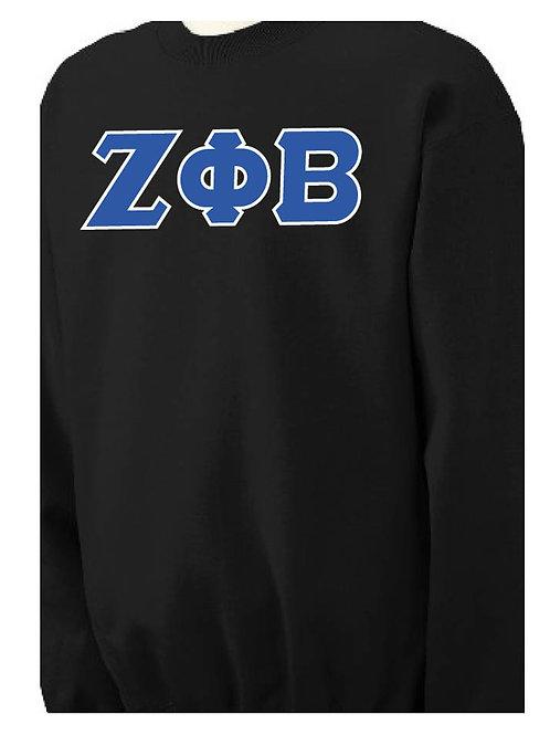 Black Zeta Fleece Crewneck Sweatshirt