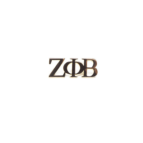 Zeta Phi Beta 3 Letter Gold Pin