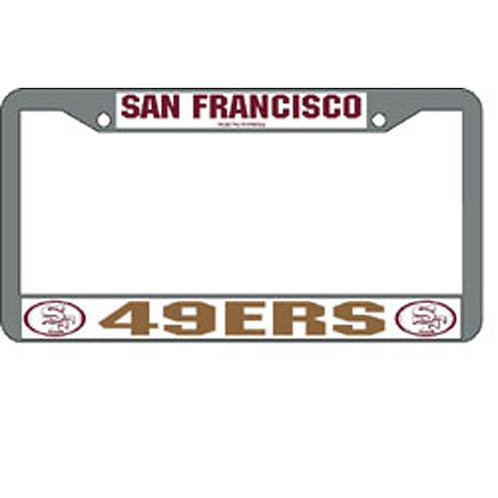 San Francisco 49Ers NFL Chrome License Plate Frame