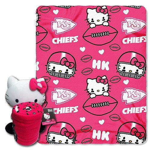 Kansas City Chiefs Hello Kitty Throw Combo