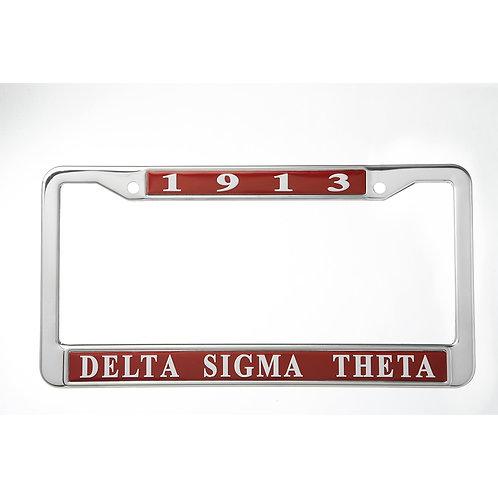 DST Metal License Plate Frame