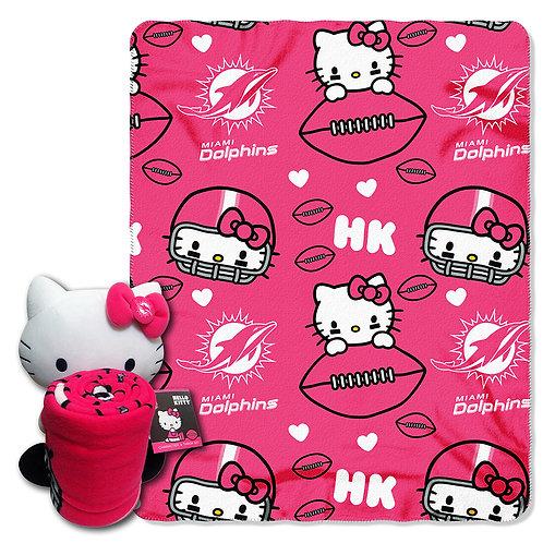 Miami Dolphins Hello Kitty Throw Combo