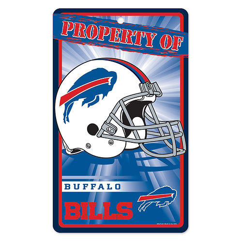 Buffalo Bills Property Of Signs (7.25x12)