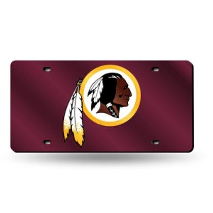 Redskins Maroon Laser Cut License Plate Tag