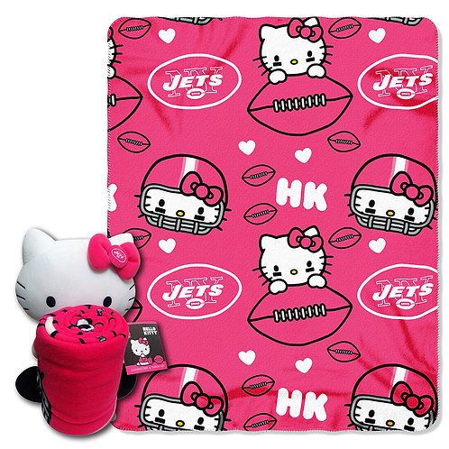 New York Jets Hello Kitty Throw Combo