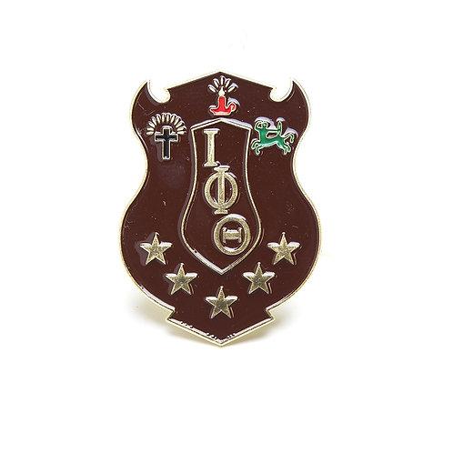 Iota Phi Theta 3D Colored Shield Pin