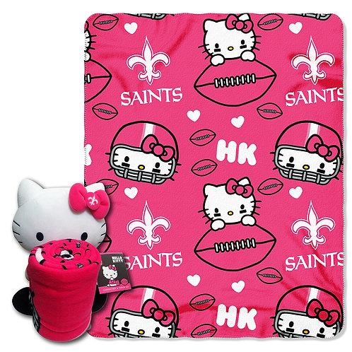 New Orleans Saints Hello Kitty Throw Combo