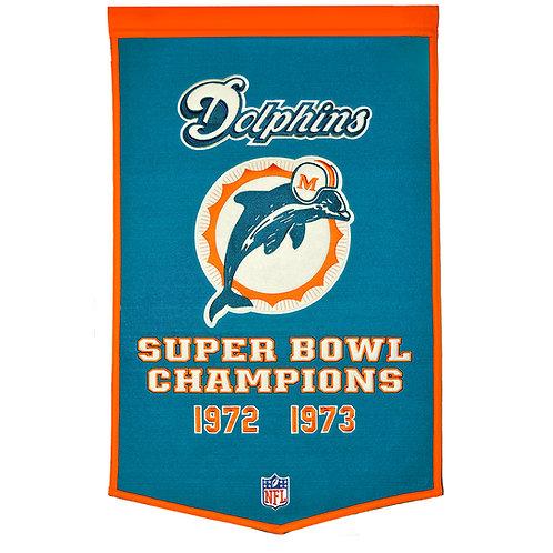 Miami Dolphins NFL Dynasty Banner (24x36)