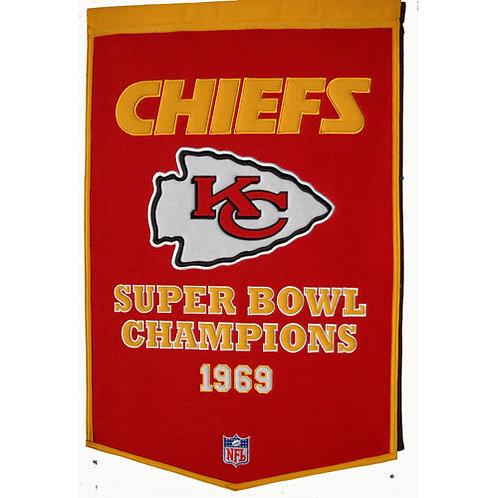 "Kansas City Chiefs NFL ""Dynasty"" Banner (24""x36"")"