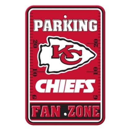 Kansas City Chiefs NFL Plastic Parking Sign
