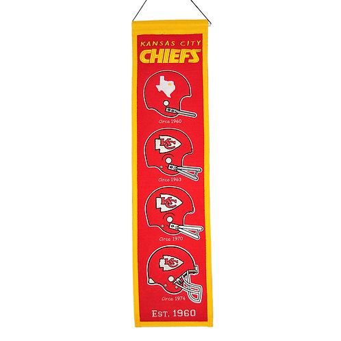 Kansas City Chiefs Heritage Banner (8x32)