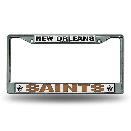 New Orleans Saints Chrome License Plate Cover