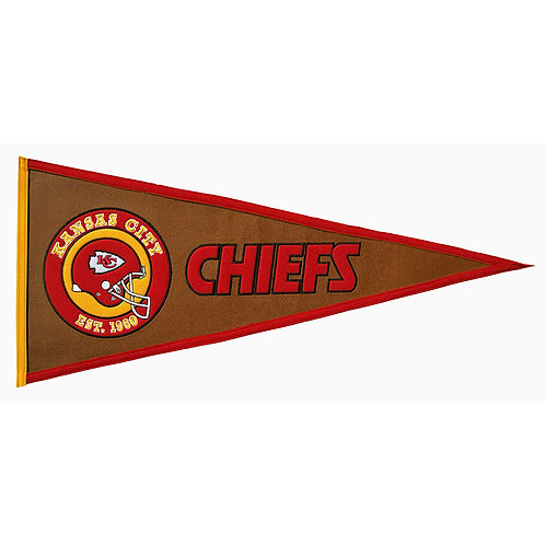 KC Chiefs Pigskin Traditions Pennant (13x32)