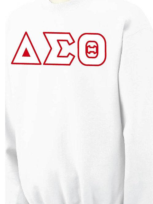White DST Fleece Crewneck Sweatshirt