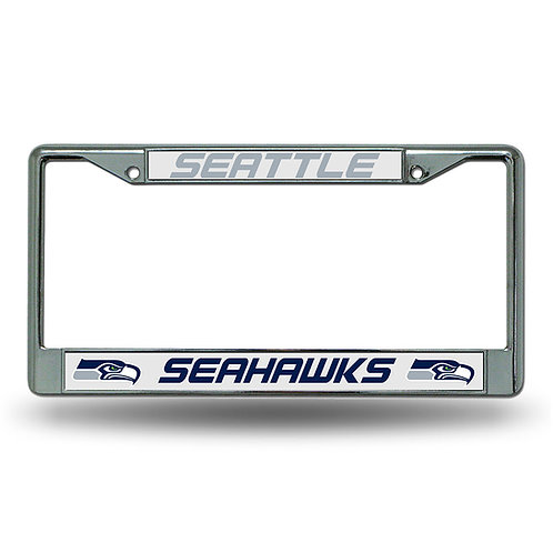 Seattle Seahawks Chrome License Plate Cover