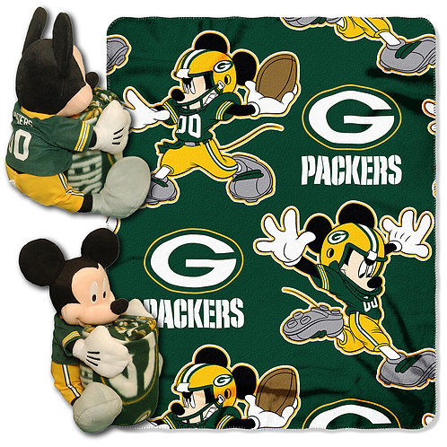 Green Bay Packers Mickey Mouse Throw Combo