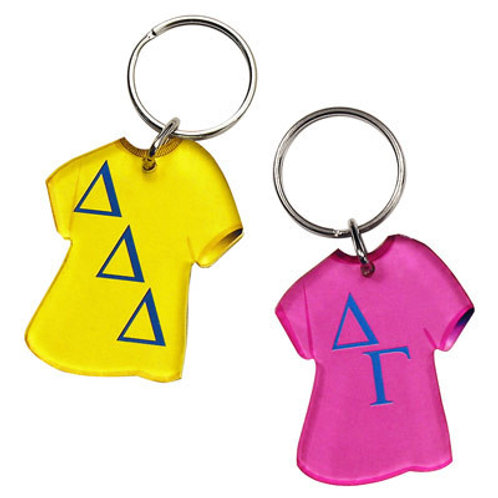 Delta Sigma Theta Greek Letter Tee Shirt Key Chain