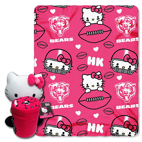 Chicago Bears Hello Kitty Throw Combo