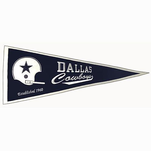 """Dallas Cowboys NFL """"Throwback"""" Pennant (13x3)"""
