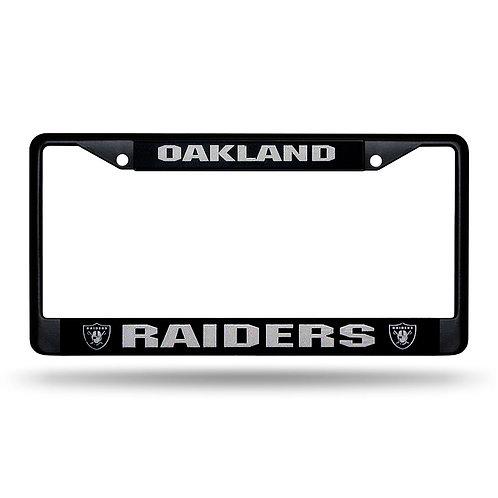 Raiders Laser Cut Black License Plate Frame