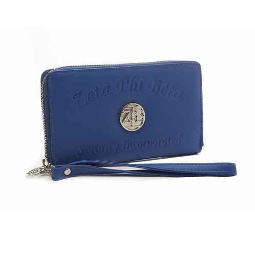Zeta Phi Beta Embossed Soft Leather Wallet