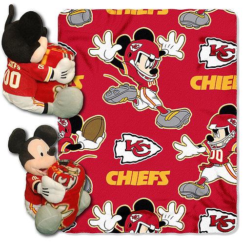 Kansas City Chiefs Mickey Mouse Throw Combo