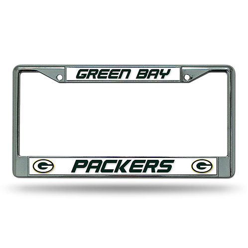 Green Bay Packers Chrome License Plate Cover