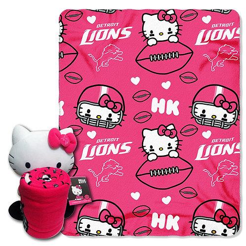 Detroit Lions Hello Kitty Throw Combo