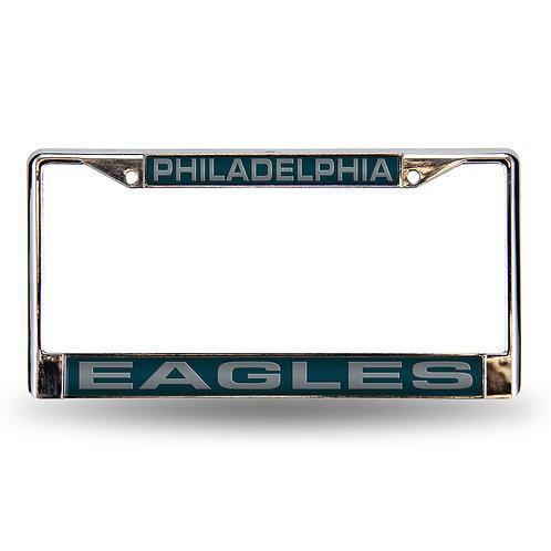 Eagles Laser Cut Chrome License Plate Frame