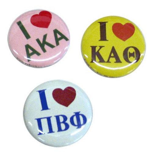 Kappa Alpha Psi I HEART Button