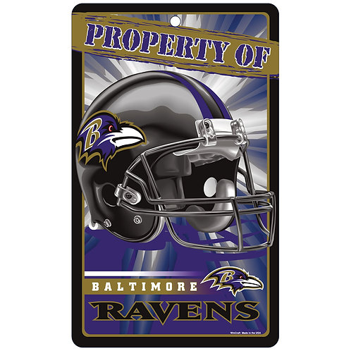 Baltimore Ravens Property Of Signs (7.25x12)