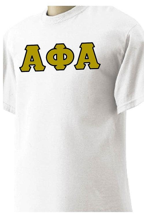 Alpha Phi Alpha Short Sleeve White Shirt