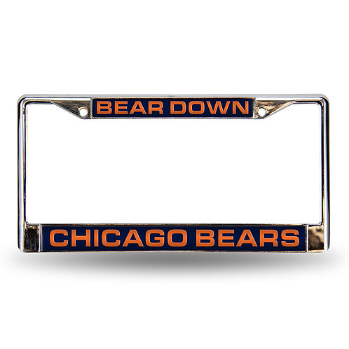 "Bears ""Bear Down Laser Cut Chrome License Frame"