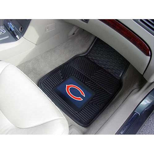 Chicago Bears NFL Heavy Duty 2-Piece Vinyl Car Mat