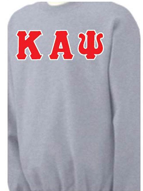Sports Gray Kappa Fleece Crewneck Sweatshirt